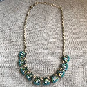 NWOT J. Crew Factory Floral Stone Necklace